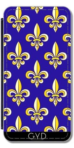 Leder Flip Case Tasche Hülle für Apple Iphone 7 Plus / 8 Plus - Fleur De Lis by hera56