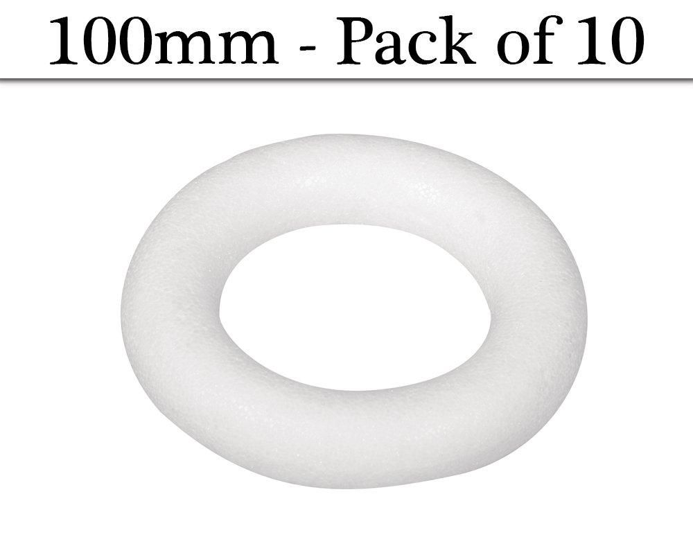 10 100mm Polystyrene Flat Backed Wreaths or HoopsFloristry Craft Supplies