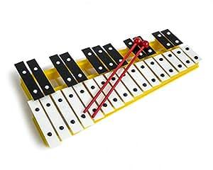 Cromático Glockenspiel Xilófono Amarillo 27 noté instrumento de la música