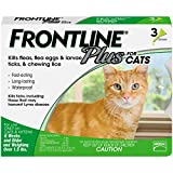 Frontline Plus for Cats and Kittens (1.5 pounds and over) Flea and Tick Treatment - 3 Doses