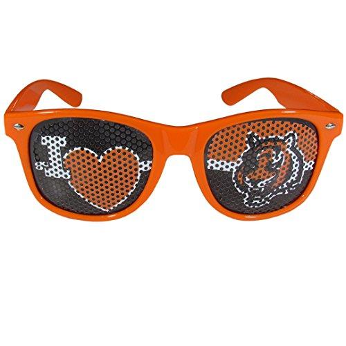 Cincinnati Bengals Game - Siskiyou NFL Cincinnati Bengals I Heart Game Day Shades, Orange, Adult