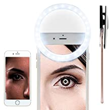 BLU Vivo Selfie Selfie Portable Flash Round Circle LED Ring Fill Light Camera Photography For IPhone Android Phone [ White ] 1881002