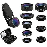 Camera Lens Kit 9 in 1 Zoom Telephoto Lens + Fisheye lens...