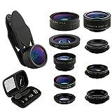 ATFUNG Camera Lens Kit 9 in 1 Zoom Telephoto Lens + Fisheye Lens + 0.36 Super Wide Angle Lens + 20X Macro Lens + CPL + Kaleidoscope Lens + 0.63X Wide Lens + 15X Macro Lens + Starburst Lens