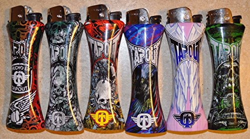 12 X TAPOUT GIANT JUMBO SIZE CURVE LIGHTER + BOTTLE OPENER(Without Gas)