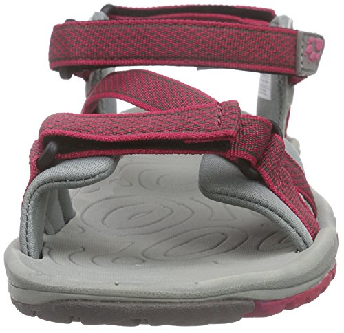Jack Wolfskin Womens/Ladies Lakewood Ride Active Walking Sandals Azalea Red