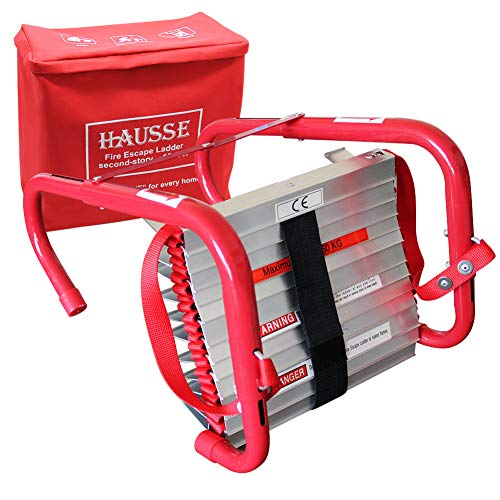 Rescue Ladder - Hausse Retractable 2 Story Fire Escape Ladder, 13 Feet