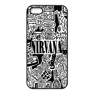 Unique Design Case for iPhone 5,iPhone 5s w/ Nirvana image at Hmh-xase (style 4)
