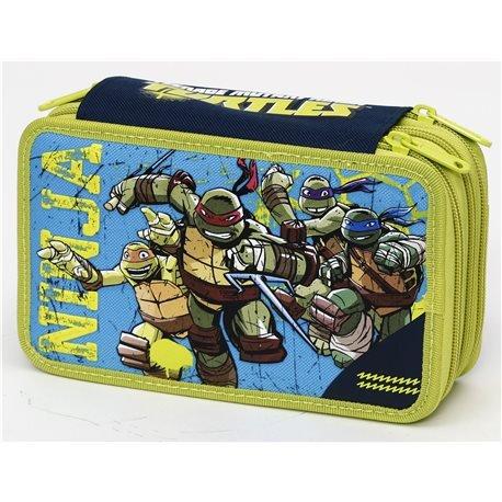 Tortugas Ninja - Estuche Triple con Colores, marcadores y ...
