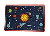 JACKSON Kids Play Rug Early Education Children Carpet Microfiber Fun Area Soft Floor Mat with Non-Skid Rubber Backing Oeko-tex100 Certified Products Rectangle Sun 47'' L x 32'' W