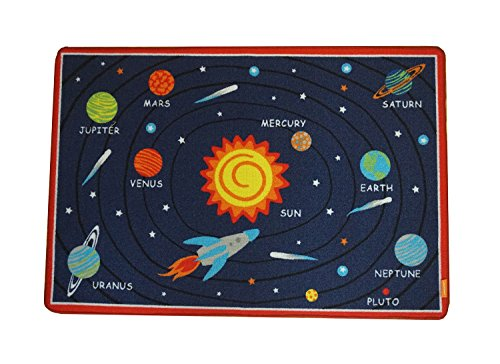 JACKSON Kids Play Rug Early Education Children Carpet Microfiber Fun Area Soft Floor Mat with Non-Skid Rubber Backing Oeko-tex100 Certified Products Rectangle Sun 47'' L x 32'' W by JACKSON