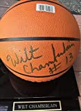 Wilt Chamberlain Lakers Autographed I/O Basketball With Case Rare Autograph - JSA Certified