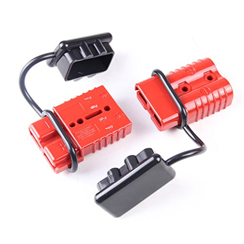 - AURELIO TECH Universal 2-4 AWG 350A Battery Connect Quick Connector Plug for 12V Winch Trailer Driver Electrical Devices