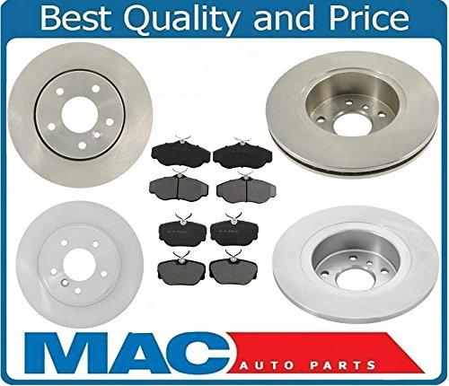 Mac Auto Parts 25831 Range Rover 4.0 4.6 SE HSE Frt & Rr Rotors & Ceramic Pads 2000 Range Rover 4.6 Hse