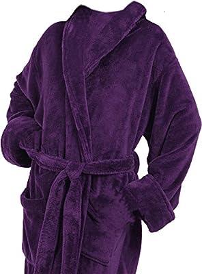 Tri Color Robes Men's Microfiber Plush Luxury Robe