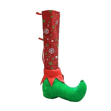 CUTEQ - Calcetines de Navidad para silla de paseo, diseño de Papá Noel, decoración del hogar, regalo para niños: Amazon.es: Juguetes y juegos