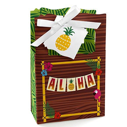 Tiki Luau - Tropical Hawaiian Summer Party Favor Boxes - Set of 12 ()