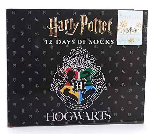 Hogwarts House Crests 12 Days of Socks Men's Harry Potter Advent Calendar