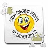 Carsten Reisinger - Illustrations - Fun Birthday This Happy Fella is turning 7 Party Celebration - 10x10 Inch Puzzle (pzl_261535_2)