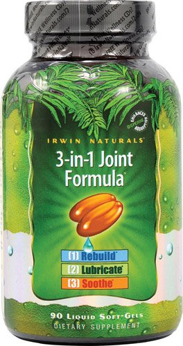 Irwin Naturals 3-in-1 Joint Formula -- 90 Softgels - 2PC by Irwin Naturals