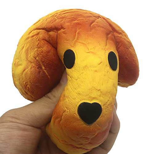 Slow Rising Squishies Dog Heads Bake Bread - Scented Kawaii Squishy Charms Toys, Stress Relief Toys ()