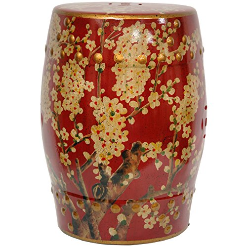 Oriental Furniture Sakura Blossom Garden Stool