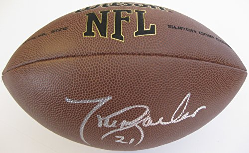 Tiki Barber, New York Giants, Virginia, Signed, Autographed, NFL Football, a COA with the Proof Photo of Tiki Signing Will Be Included Barber Autographed Nfl Football