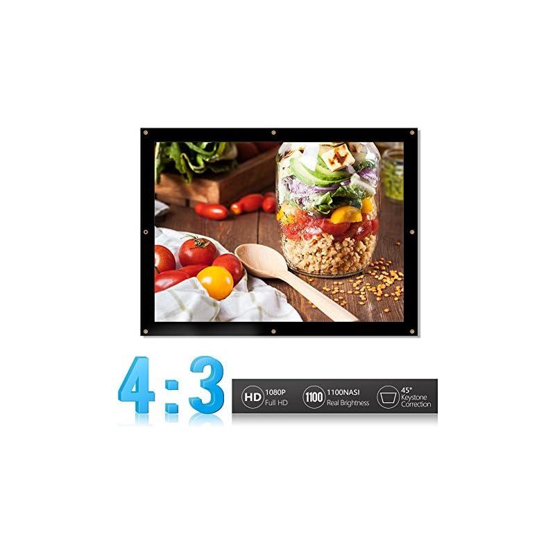 Portable Projector Screen,16:9/4:3 Folda
