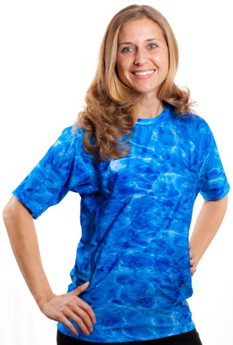 Aqua Design Womens Relaxed Fit Rash Guard UPF 50+ Surf Swim Rashie Shirt