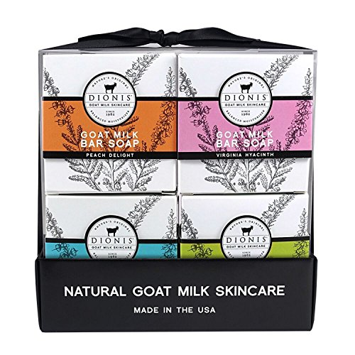 Dionis Goat Milk Skincare Bar Soap 4 Piece Gift Set - Everyday Essentials