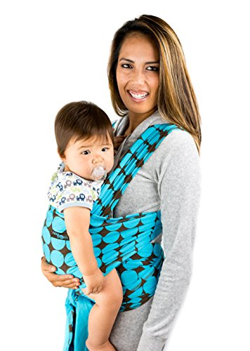 Baby Wrap Sling with Blue Polka Dot Pattern -100% Cotton