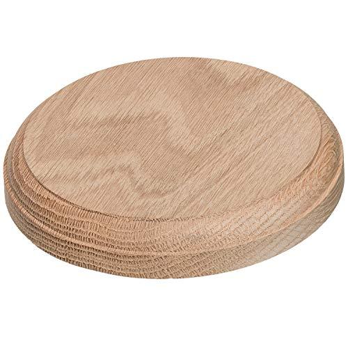 Rosette Trim - JMP Wood Round Rosette 202 (Poplar Wood)