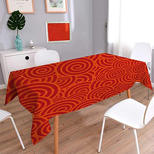 PINAFORE HOME Tablecloth Stain Resistant China red Seamless Cover Assorted Size/Rectangle, 60x 84 - Magnet Rectangle China