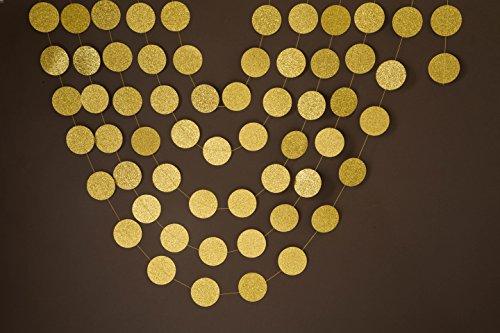 Glitter Paper Decoration garland,Gold garland, gold wedding