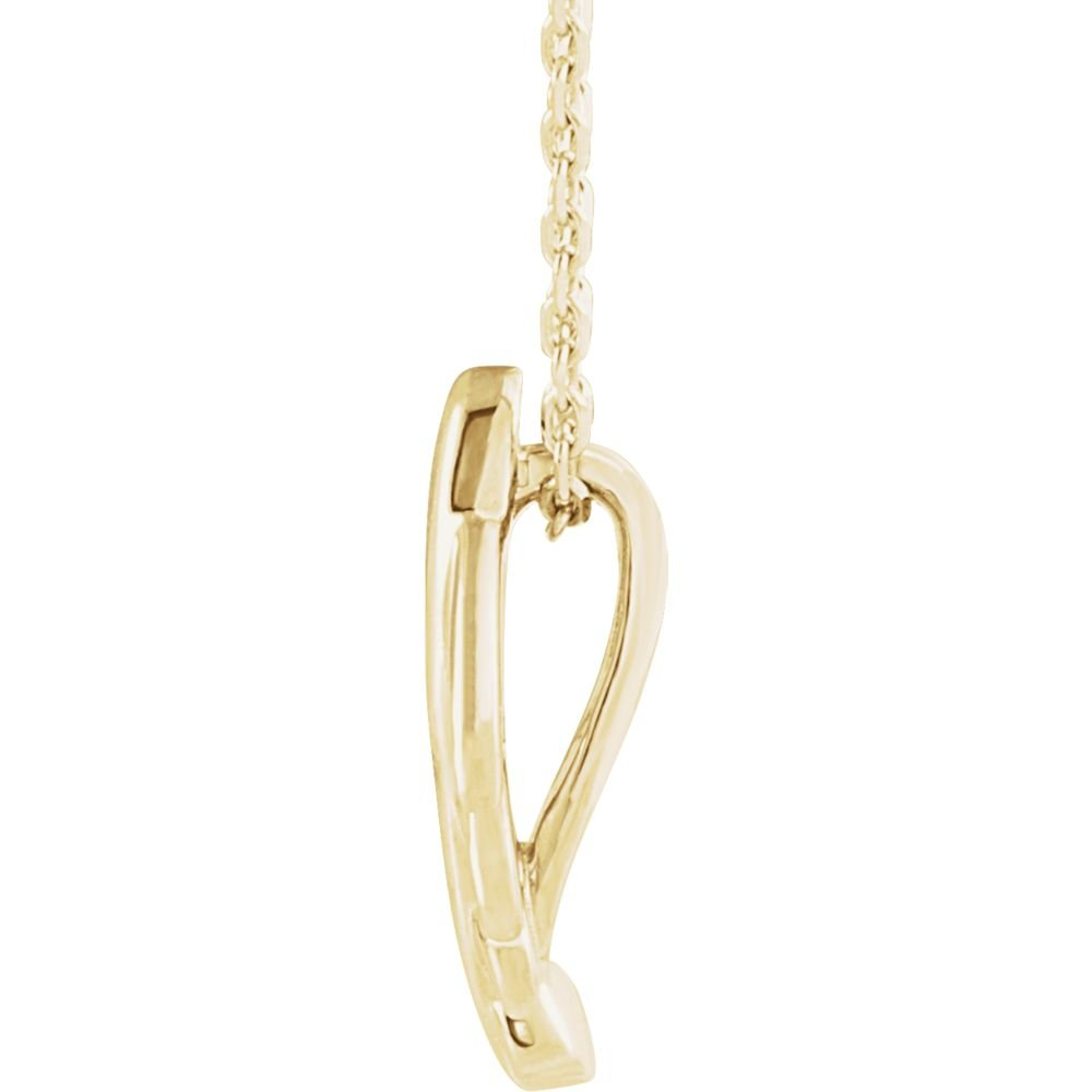 Jewels By Lux 14K Yellow Gold Leaf Necklace
