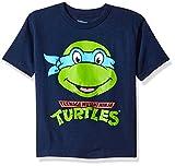 Nickelodeon Boys' Toddler Boys' Teenage Mutant Ninja Turtles Group T-Shirt Shirt, Navy, 4T