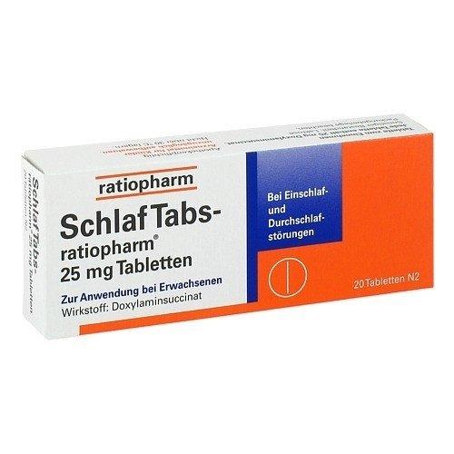 Schlaftabs-Ratiopharm 25 Mg Tabletten, 20 St