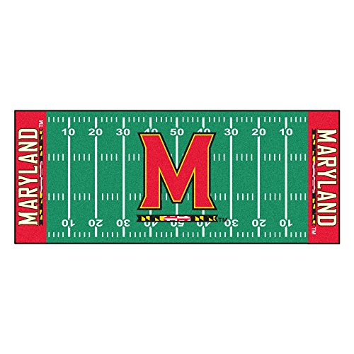 FANMATS NCAA University of Maryland Terrapins Nylon Face Football Field Runner by Fanmats
