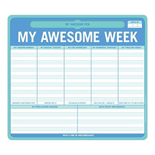 Knock Knock My Awesome Week Pen-To-Paper Mousepad (12614) (List Of Office Supplies For Your Desk)