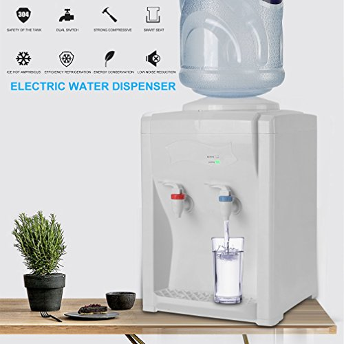 Coldcedar 2018 Premium 3-5 Gallon Countertop Water Cooler Dispenser - Top Loading Hot & Cold Water for Work, Home, Office Use (28 x 25 x 41cm) by Coldcedar (Image #4)