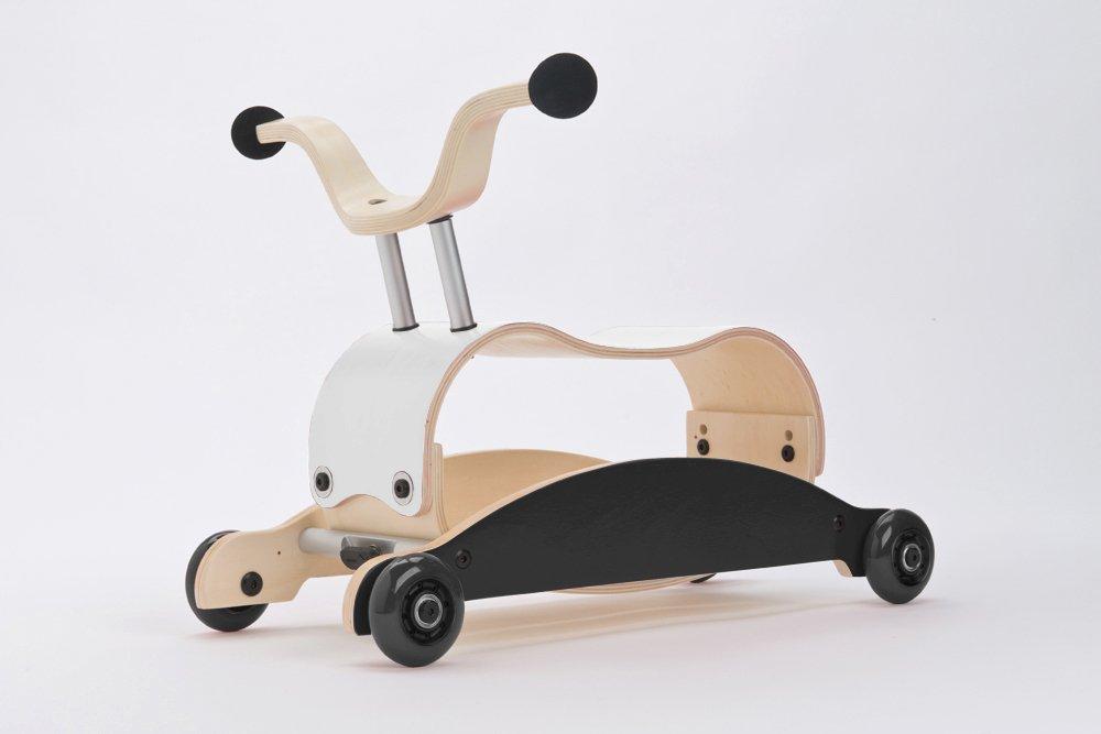Rutschauto Holz - WISHBONE mini FLIP Schwarz-Weiß