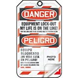 Accuform Signs TSP107LCP Self-Laminating Spanish Bilingual Lockout Tag, Legend