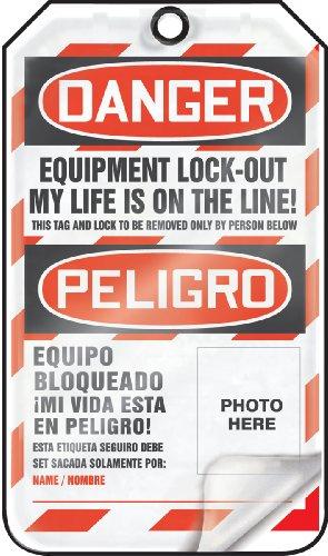 Accuform TSP107LCP Self-Laminating Spanish Bilingual Lockout Tag, Legend