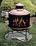 Unique Arts  Solid Copper New Chiminea Combo With Screen