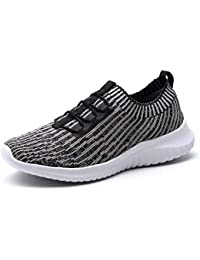 Women's Athletic Walking Shoes - Casual Mesh Lightweight Running Slip On Sneakers