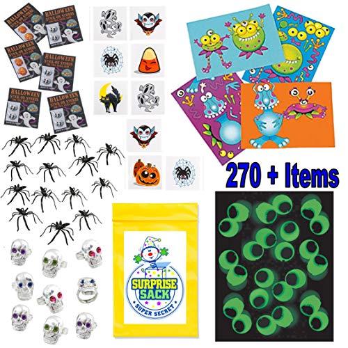(Super Secret Surprise Sack 270 Pc Non-Candy Halloween Bulk Mega Trick or Treat Party Favor Prize Toy)