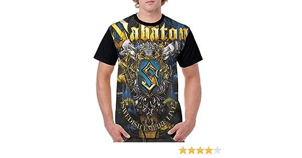 SABATON COAT OF ARMS Lady Black T-shirt Woman V-neck Rock Band Tee Shirt