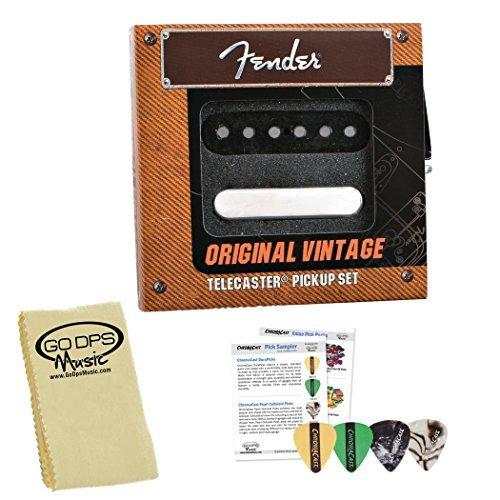 Fender Original Telecaster - Fender Original Vintage Telecaster Pickup Kit (099-2119-000) with Picks & Polish Cloth