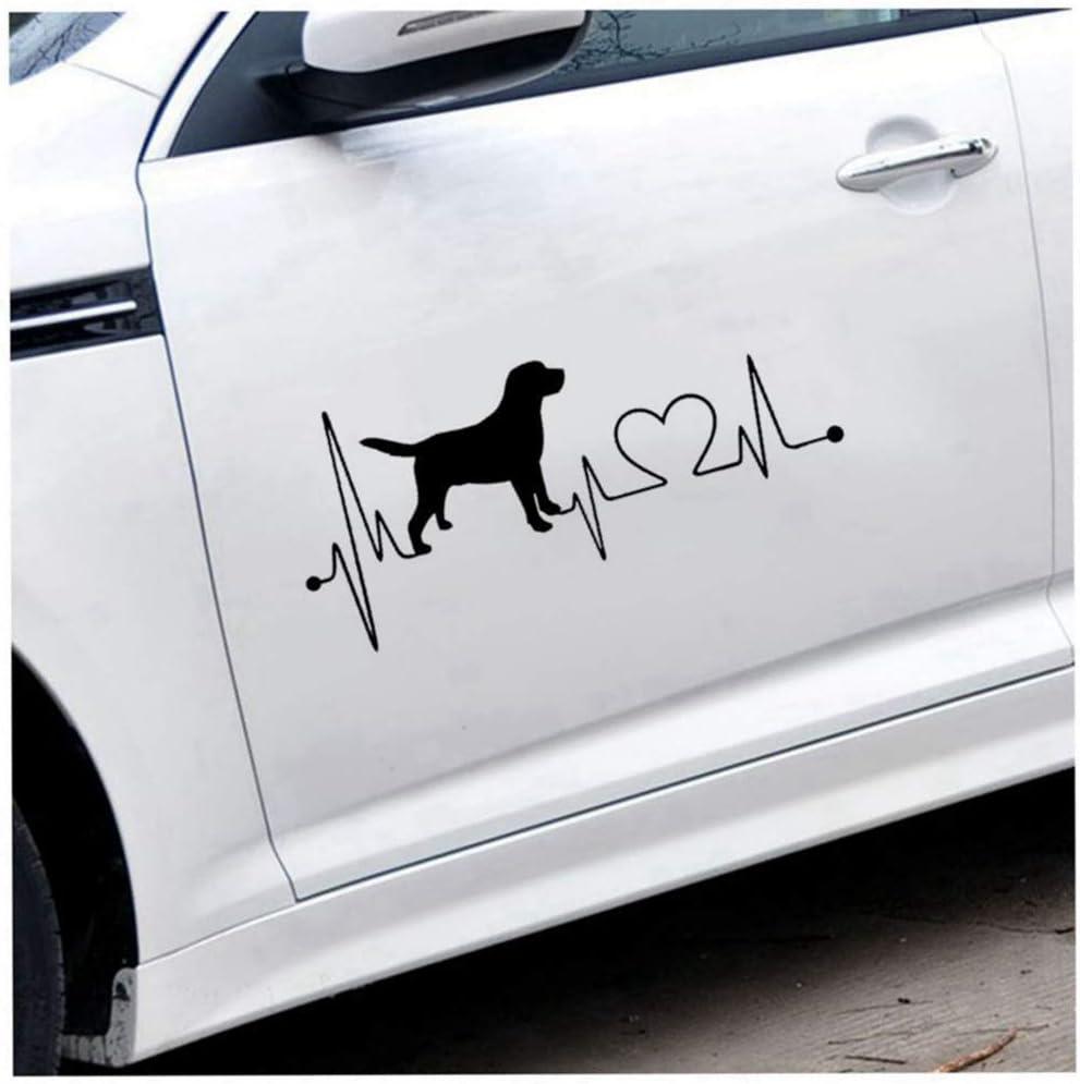 Aufkleber Auf Auto Auto Aufkleber Labrador Retriever Herzschlag Liebe Aufkleber Auto Aufkleber Kreative Mode Autozubehör Baumarkt