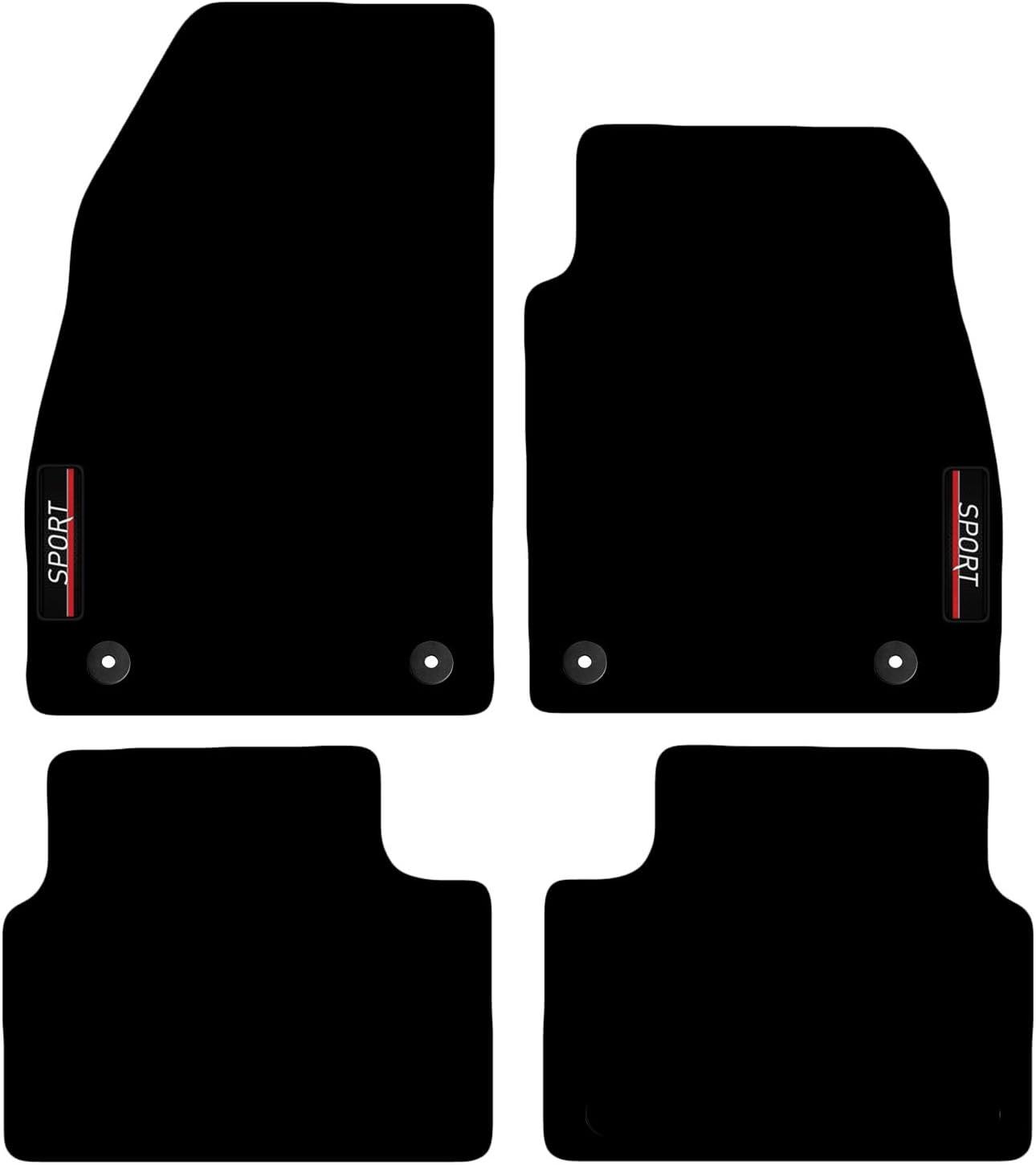 Carsio L64 Carp Cut 1315 33x4 Maßgeschneiderte Auto Fußmatten Mit Logo Für Opel Insignia 2008 Bis 2013 Schwarz Auto
